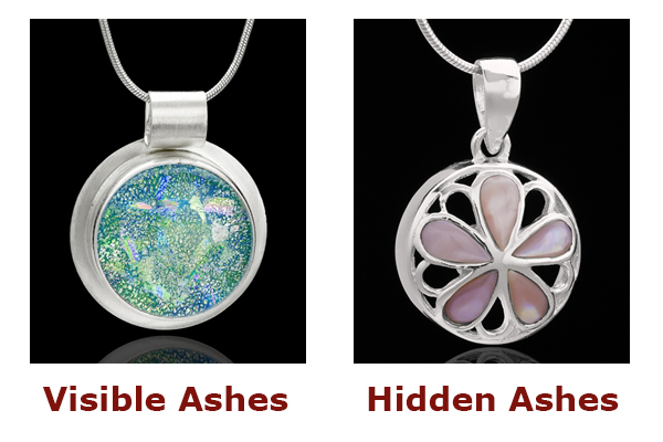 Ashes inside Cremation Jewelry