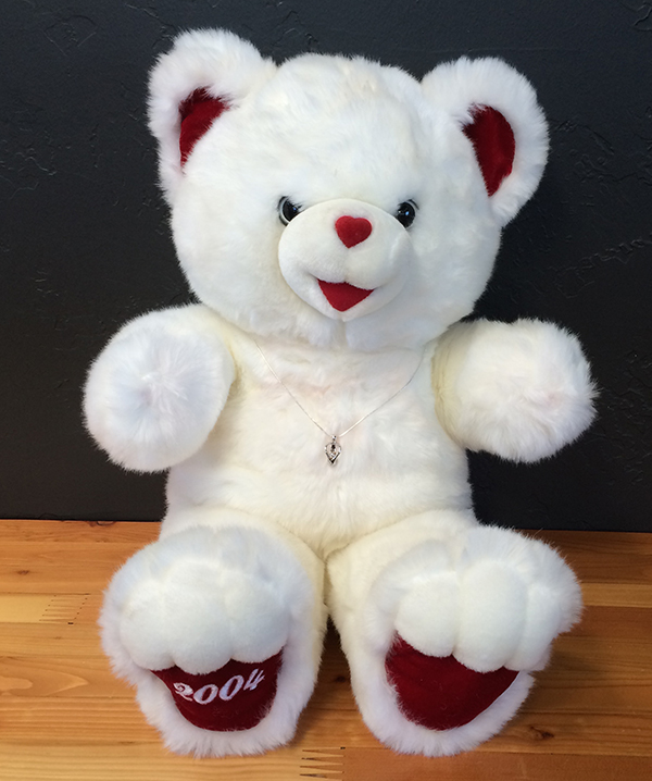 Teddy Bear displaying cremation jewelry