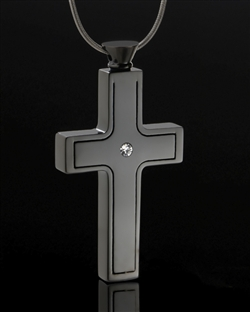 black plated necklaces to hold ashes